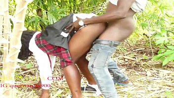 While The Blind Student Was Thinking His Taking Her To Her Father House But He Ended Up Fucking Her In The Bush