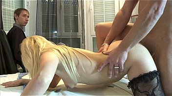 Cuckold watching how her slut wife is being_fucked Thumbnail