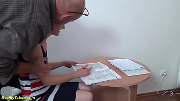 cute small tit skinny girl gets extreme rough big cock banged by her old horny stepdad