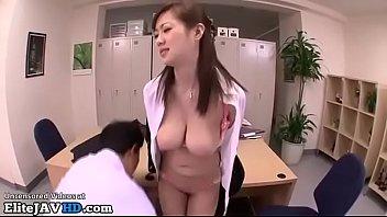 Jav secretary with massive boobs fucked in office
