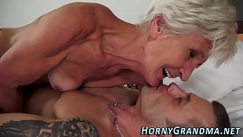 Ugly old granny fucked and sucks cock