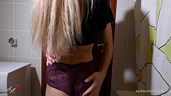 Watch Young Babe Fucked in_your own bathroom_- Amateur Couple preview