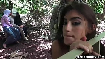 American soldier and a local slut on an outdoor hardsex!