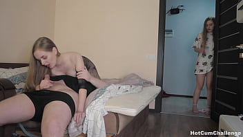 Daughter Masturbates While Watching her Mom get Fucked !