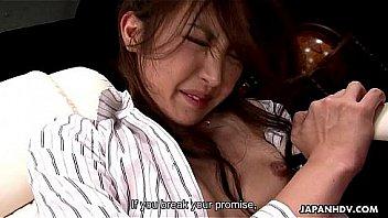 Tied up Japanese slut enjoys kinky sex toys