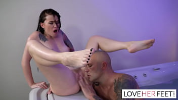 Misha Cross Bathtub Foot Fetish Sex