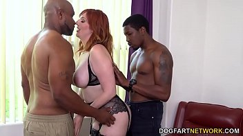 Anal Slut Lauren Phillips Seduces Two Black Dudes To Pound Her Holes
