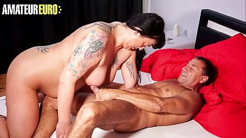 AMATEUR EURO - Mature BBW Kim Schmidts Sucks And Bangs With Husband On Their First Homemade Attempt