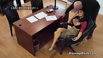Horny boss busted on hidden cameras fucking his curvy secretary