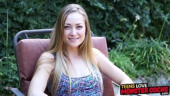 Teen beauty impaled deep by monster BBC