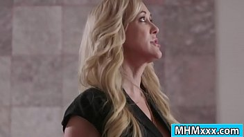 Blonde milf asking out her hunk employee to fuck her hard