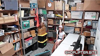 Stupid Shoplifting Girl Hidden-Cam Sex