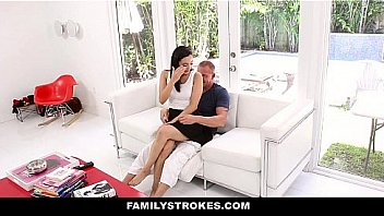 Family Stokes - Slutty Stepdaughter (Malina Mars) Presents On Fathers Day
