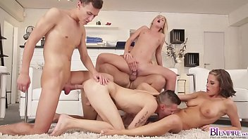 The spa turns into one bi group fucking where relaxation doesnt get better when its filled with pussy and dicks