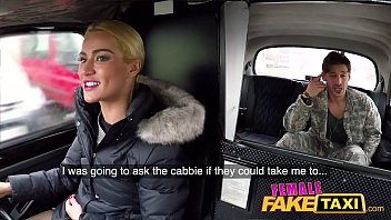 Female Fake Taxi Deep internal creampie from military dick