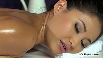 Natural big tits Asian bangs masseur