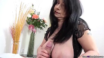If you like granny handjobs, look no further than this over40handjobs video. She has big boobs and she handjobs a big cock. She puts years of cock milking experience to work!