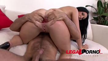 Isabella Clark anal stretching with gigantic dildos before HARD gangbang
