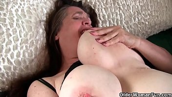 Church lady Andrea can't control her hairy pussy and indulges herself in sinful masturbation. Bonus video: American milf Lisa.