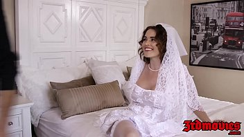 Busty bride makes hubby watch her fuck