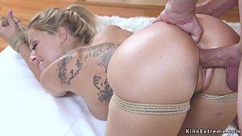 Nasty couple Bill Bailey and Zoey Monroe trying bondage sex