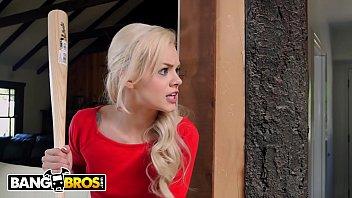 BANGBROS - Young, Skinny White Girl Elsa Jean Taking BBC From Masked Burglar