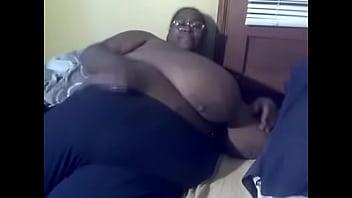 SSBBW black amateur MsBinthere feeling herself in bed