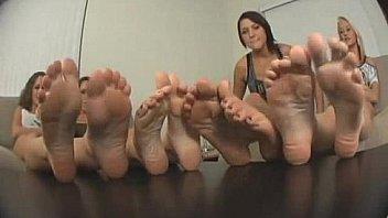 girls girls feet..Tease POV