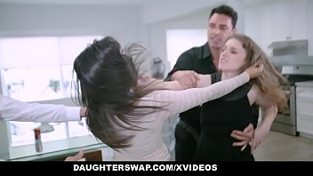 Cute Girls Catfight Over Hot Daddy Cock