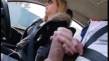 she takes a stranger on the road, he offers her that cock