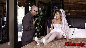 Blonde bride fucked rough interracially
