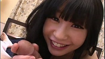 Innocent teen Mizutama Remon sucks a cock then rides it cowgirl style