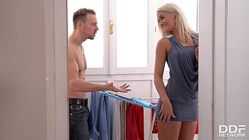 Leggy Blonde Babe Nicole Vice Banged On Kitchen Countertop