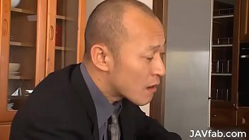 Japanese wife must repay her husband's debt by fucking some mafia guys
