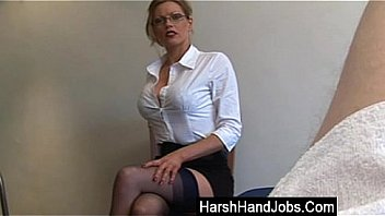 Watch Secretary type_gives a harsh handjob preview