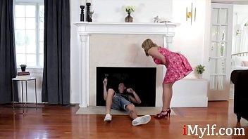 MILF Seduces Her Bratty Neighbor...