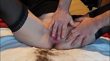 Student shaves her teacher's pussy and masturbate until she reaches an intense orgasm - Miss Creamy