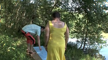 Horny Old Couple Banging In The Woods!
