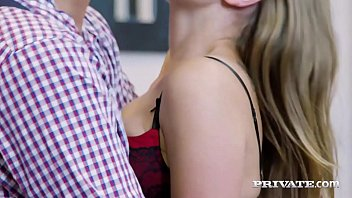 Petite Young Blonde, Lady Bug, messes up a shave & makes it