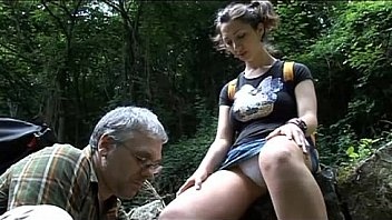 She got fucked after hurting her leg in the forest