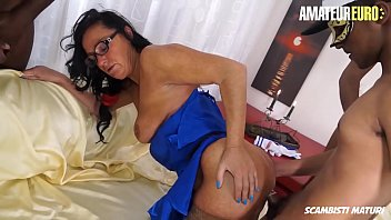AMATEUR EURO - Sexy Mature Brunette Laura Rey Takes Not One But Four Cocks In Hot Group Fuck