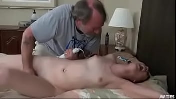 Bunni Hughes teased by old man to orgasm