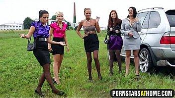 5 Girls fucked by 1 lucky farmer