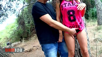 Carol Sevilla horny spanish MILF gets her ass fucked in the woods