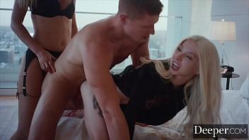 Deeper. Blonde punishes husband and mistress