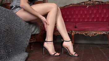 Sexy Feet In High Heels Tease, Dangling And Walking