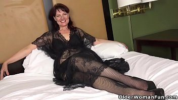 American milf Zoe wears sexy lingerie tonight and wants to share her hungry pussy with you. Bonus video: American milf Justine.