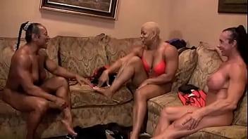 Debra Dandrea Muscle wrestle and lick