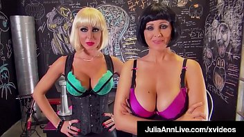 Laboratory Lesbians Julia Ann & Jessica Jaymes, stuff their mature mouths with a pulsating penis, milking this hard cock until he cumsStep-d. Kimber Lee Bangs Her Step-f. For Cash!! Full Video & Julia Live @ JuliaAnnLive.com!