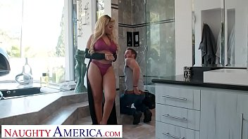 Bridgette B has the plumber fix her pipes with his big dick
